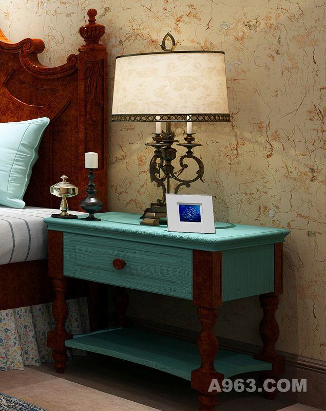 欧式时尚蓝绿色家具尽享古典风情